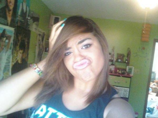 Duckface lvl 9000. AM I SEXY BAYBAY.. i dont think she is trying hard enough...
