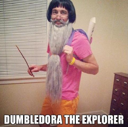 DUMBELDORA. .. Death Eater no Death Eating! Harry Potter lol sexy epic beard dora Explorer