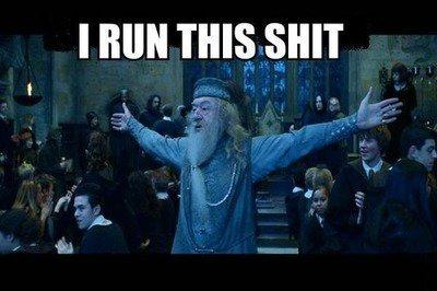 Dumbledore. He runs.. retoast jasoon