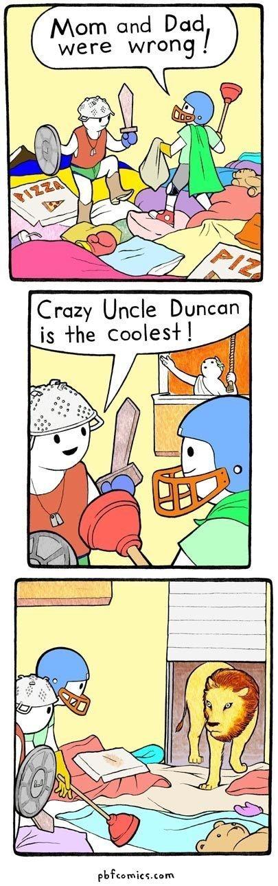 Duncan is best uncle. .. wat