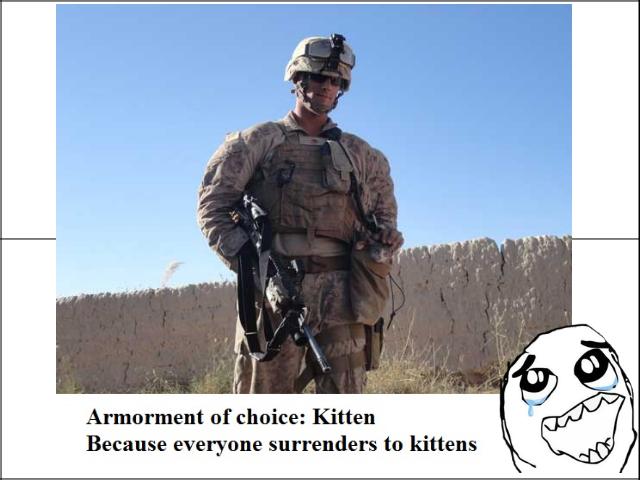 eat it. . chnace: Kitten Because everyone surrenders tn kittens