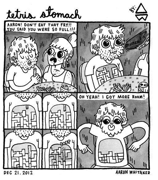 """Eating. not OC. Mann! burr EM' THAT """"tll. sun 'mu wane so FELL!!! Tetris Eating"""
