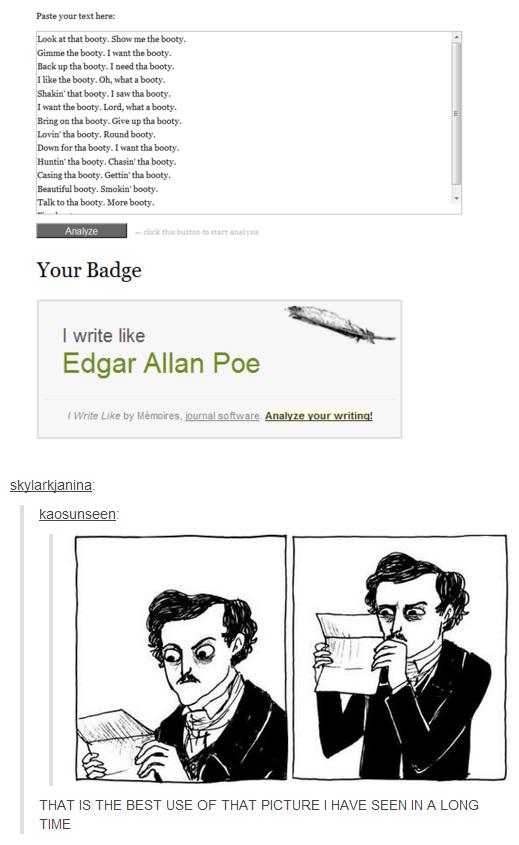 Edgar Allan Poe. . here. borny. . Gimme ' the booty. lick earth. booty. I Hill?' -I' ll boota. booty, Isaw tha booty, lariat the borats. Lari, Hint I borats. Br