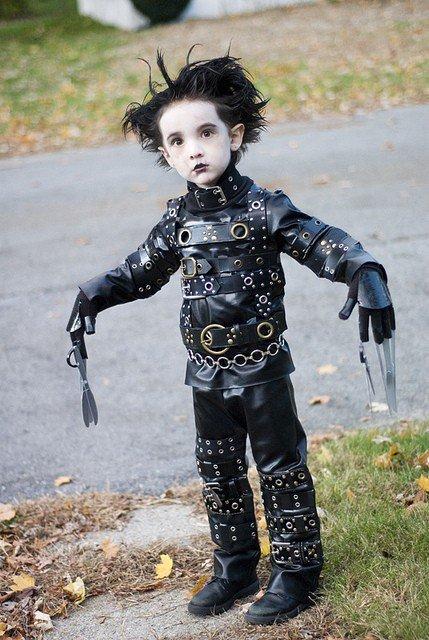 Edward Scissorhands. Kid as Edward Scissorhands You guys are the best! Top 50!.. that kid looks uncomfortable edward scissorha