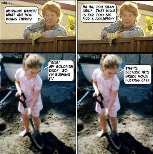 """Eeeeevil. . HA HA. Tau SILL? Hams: was lill BUIO':""""! Ner INSIDE Ham rumping; can who needs tags anyways"""