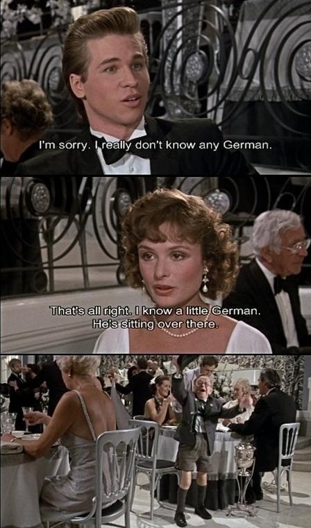 Ein klein Deutschman. . in l ismith' /4 I' m sorry. I f Mt don' t know any German.