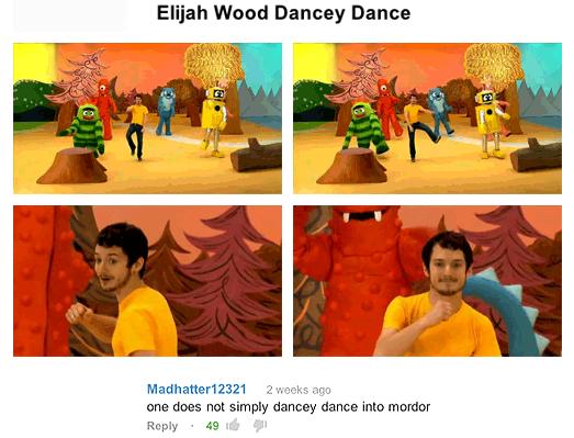 Elijah Wood Dancey Dance. Tardblr.. Elijah Wood Stabby Stab