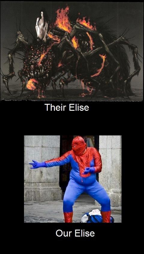 Elise. oc donut steel. Their' Elise Our Elise. well your Elise looks really fed