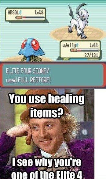 Elite 4. . ELITE F( used FULL ( , l II MIG Ernie'' t Pokemon wonka