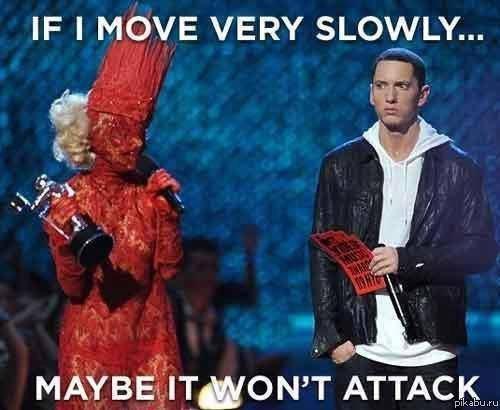 Eminem 2. . IF I MOVE VERY SLOWLY...