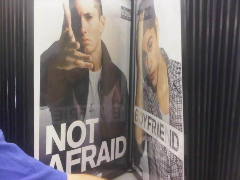 Eminems Not Afraid of Biebers Boyfriend. OC. I took the picture.