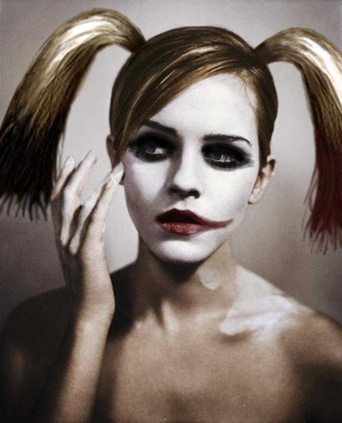 Emma Watson as Harley Quinn. .