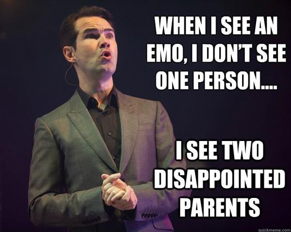 Emo Kids. i cut myself. tts I SEE nu I as two i' , PARENTS Running with Scissors