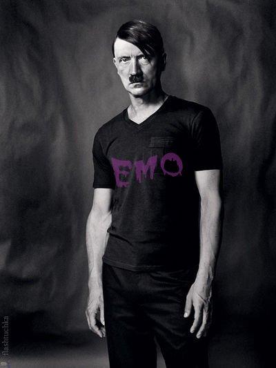 EMO Hitler!. emo hitler!.. He was a faggot. Nuff said. emo adolf hitler