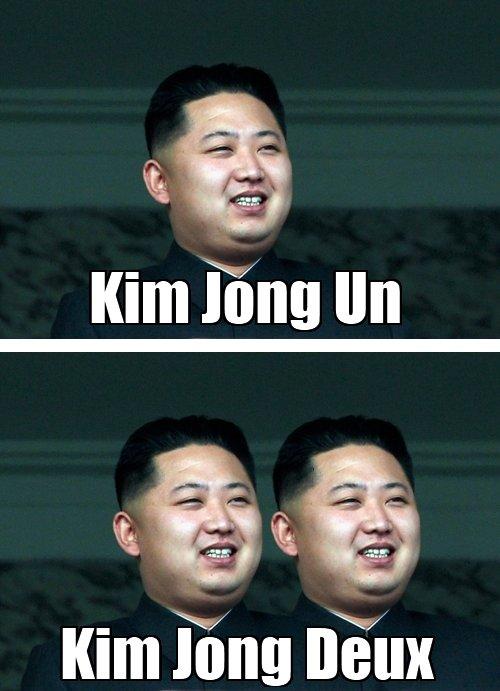 """En français s'il vous plaît. . Kim long lieu)!. i don't know much french but """"moi cafe c'est la merde"""" kim jong un french nobody use tags"""