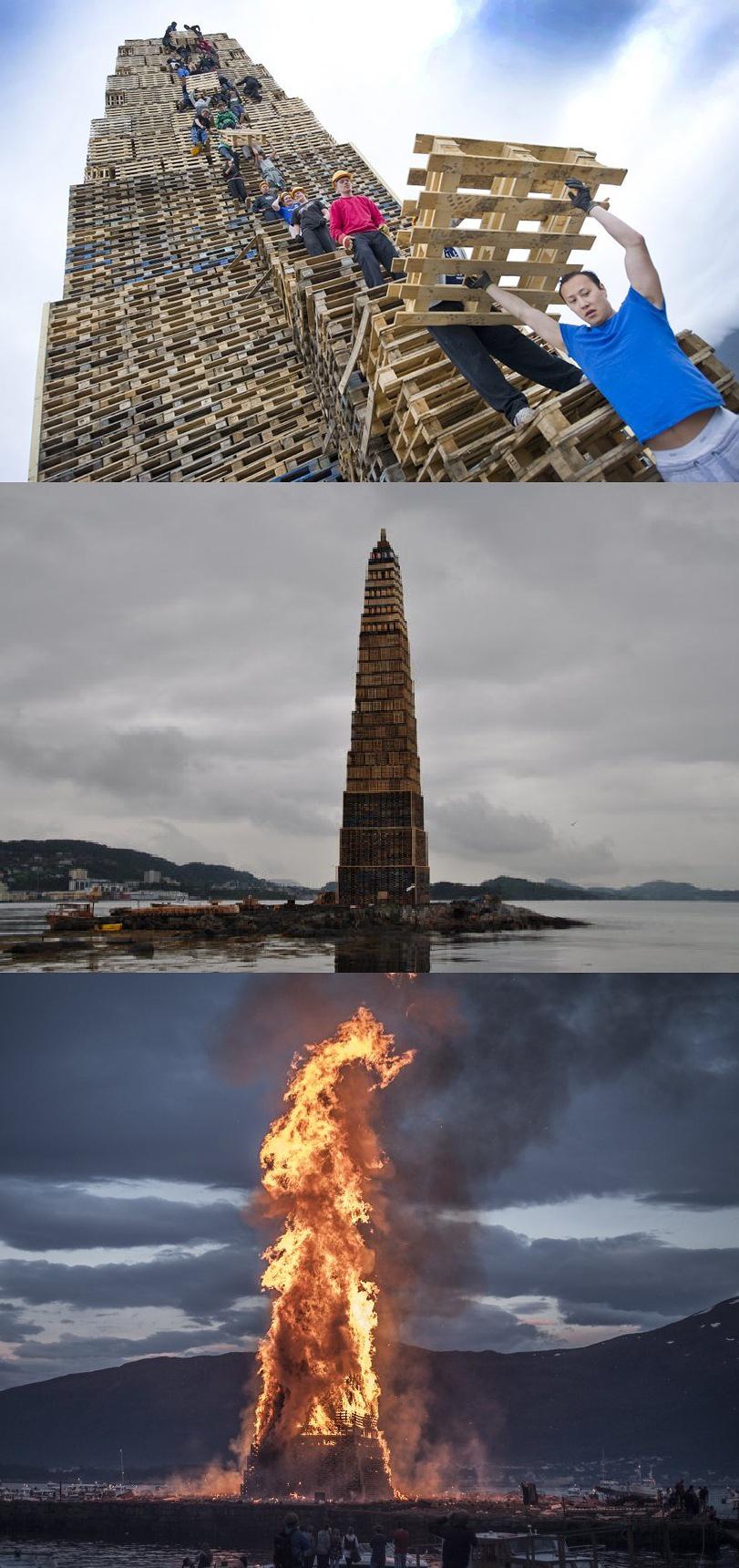 Epic Bonfire. Slinningsbålet 2010 Bonfire World record... The Beacons Are Lit! Gondor calls for Aid!