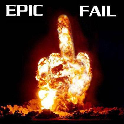 Epic fail. .