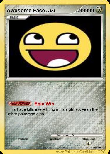 epic pokemon card
