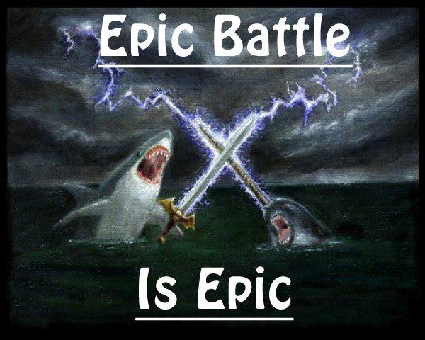 Epic Battle. Found this epic fight on google images.<br /> So tell me, who do you think would win?.. omg sooooooooooooo epik