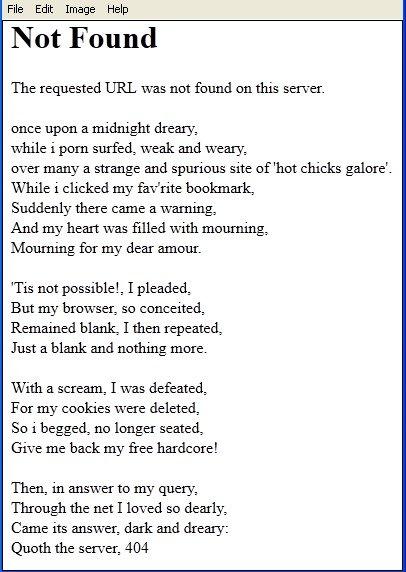 Error 404 Poem
