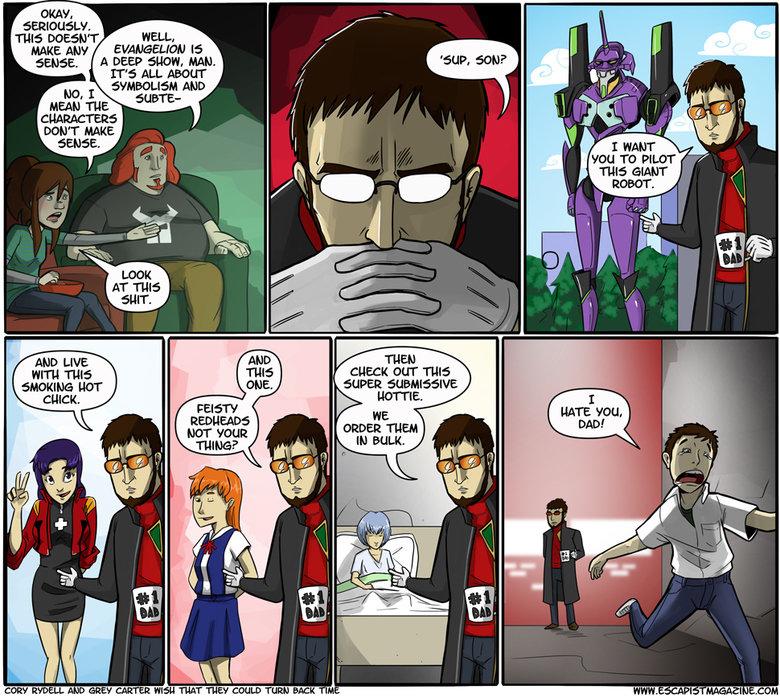 Evangelion in a nutshell. Yes.. WELL, A DEEP 'EIAD. HAM. IT' S! ALL AWN No, TD PILOT Rf. ribit evangelion Neon genesis Shinji is a cunt