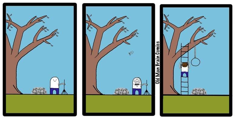 Every Fall. . old man Brain comics