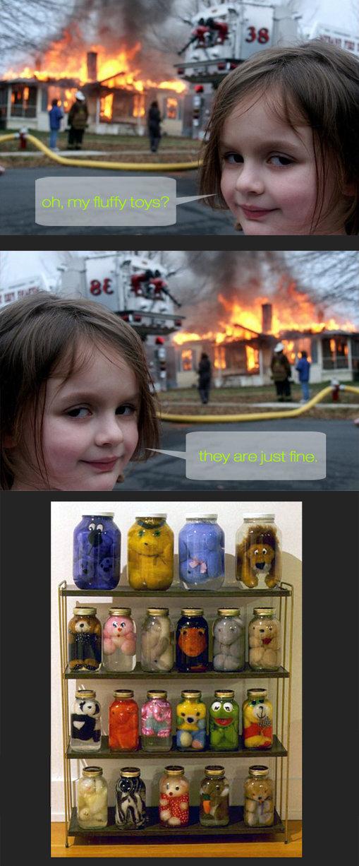 evil kid & innocent toys. .