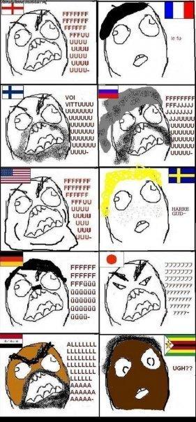 Evolution of rage guy.. Rage guy around the world.. UGUU UGUU UGUU UGUU FFCCFF FFCCFF ubuhuu LLOOLL tritty. amercican fuuuuu....damn we're fat lol rage guy funny Countries rage Angry