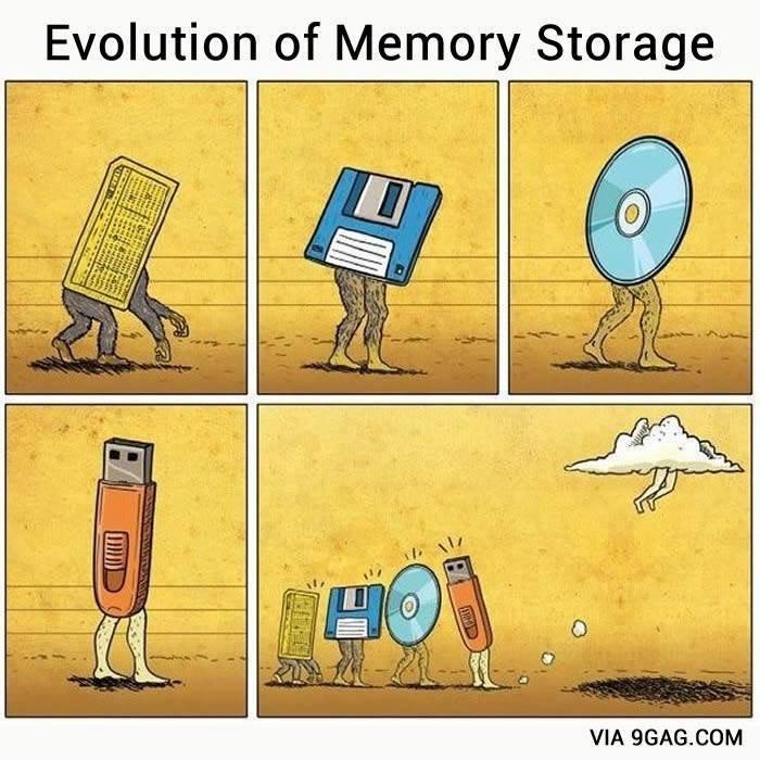 Evolution. . Evolution of Memory Storage VIA . CUM God