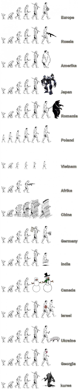 evolution. .. mean while in korea