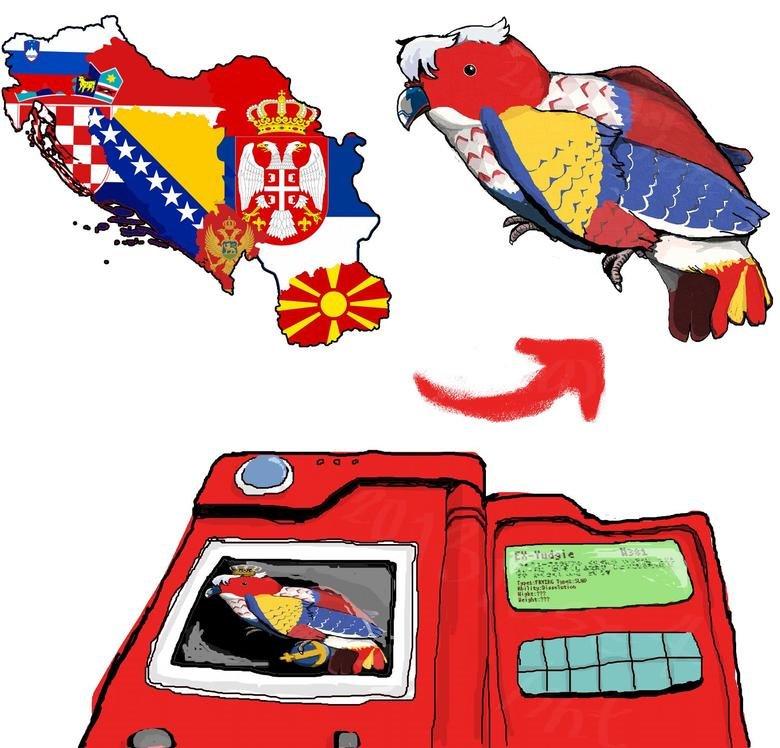 Ex-yugoslavian countries as a parrot. .