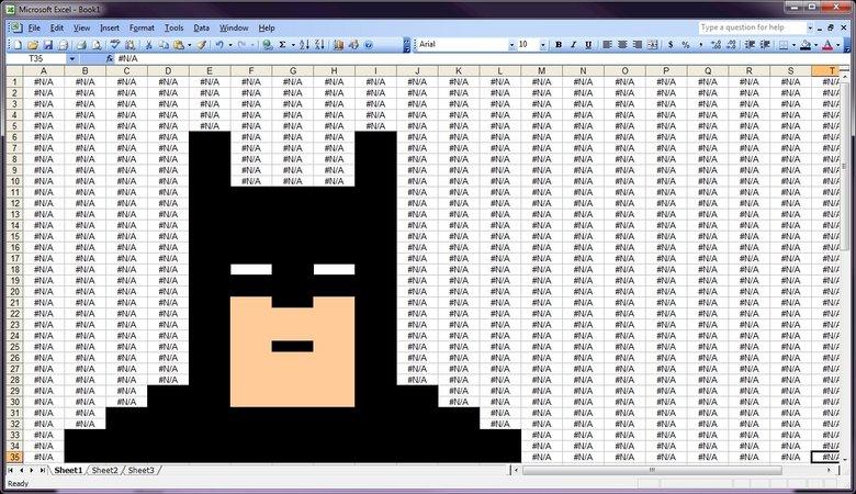 Excel Batman. YEEA. Found on reddit. tr x f. ike Liam Emmi Innat Qatar Lileep. #N/A#N/A#N/A#N/A#N/A#N/A#N/A#N/A BATMAN!