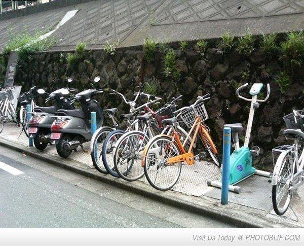exercise bike ftw. racist penguin is racist.. Remi Gaillard