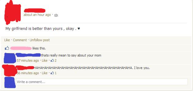 Facebook (1). im funny as fu.