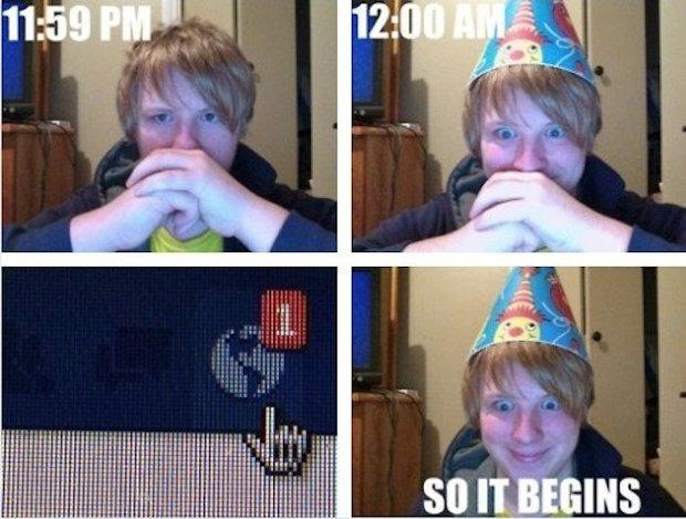 Facebook Birthday. .