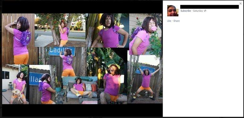 Facebook has a dark side. Are you a boy or are you a girl?.. dora the explorer?