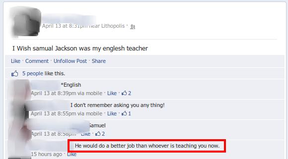 Facebook. . I Wish April 13 at . -.: Metropolis - 1; samuel was my englesh teacher Like - - Past - Share sh 5 people like this. English nubile - Like - I HT rem
