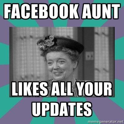 """Facebook aunt. . VIII""""!"""