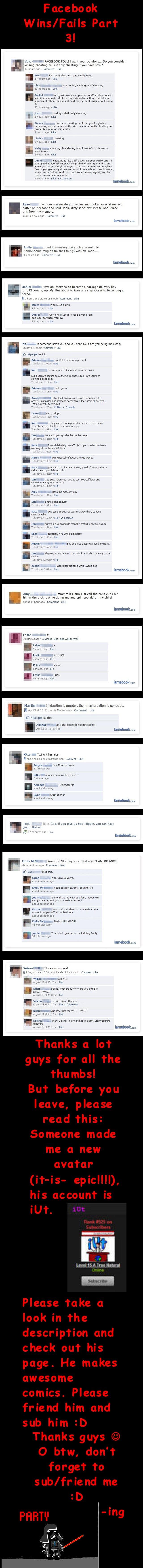 Facebook Wins and Fails part 3. funnyjunk.com/user/iUt<br /> Part 4: funnyjunk.com/funny_pictures/1313660/Facebook+Wins+and+Fails+Part+4/<br /> funn