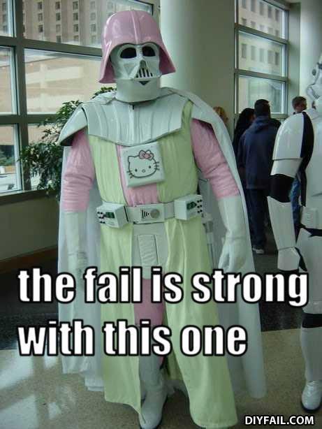 fail is strong. .. OMG LOL fail darth vader pink