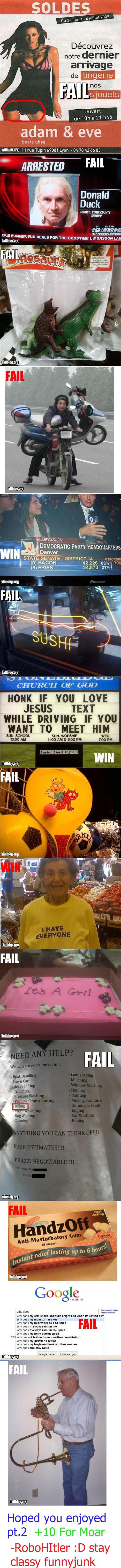 "Fail Comp. Pt. 2. fail comp pt 2<br /> pt1 www.funnyjunk.com/funny_pictures/589565/Fail+Comp+Pt+1/. u M gum in 819"" notre dealer adam & eve beats uhsa 11  fail blog comp funny"