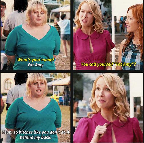 Fat Amy. . f lilli H tdi it. sometimes i slap myself with my own titties.