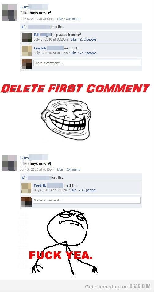 "FB troll. trollin like a . Lars Ilka boys Haw it July E. 2010 : Like -Comment likes this, PEI away from me! Fredrik me 2 l!!! I July 6, EDIE ata: ""Like gaypeopl troll"