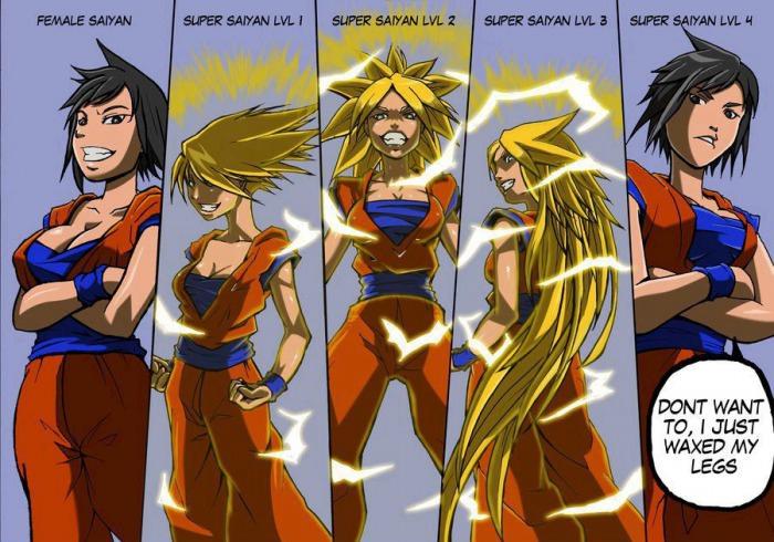 Female saiyans. Inb4 they cant go super saiyan.. TD, I JUST WAKE MY. here you go