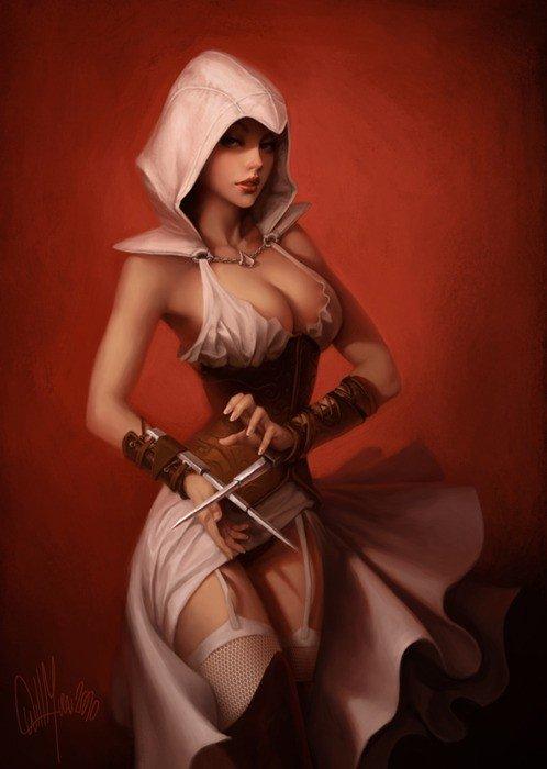 Female Ezio Auditore da Firenze. Very Hot.. thumb for everyone inb4flag.