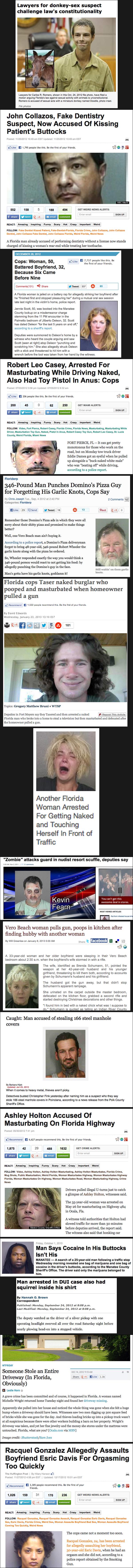 fifteen FA crimes. .. this looks like a job for florida man