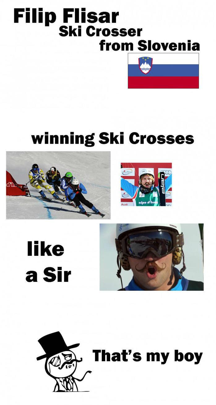 Filip Flisar. . Filip Faisal Ski Crosser from Slovenia gait winning Ski Crosses That' s my boy