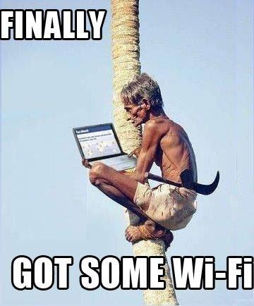 Finally Wi-Fi. .