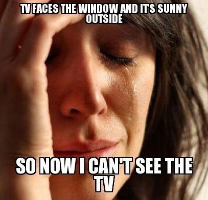First world problems. .