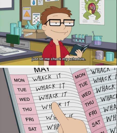 FJ's daily schedule. . r: Iae:: thy schee: iuge. r